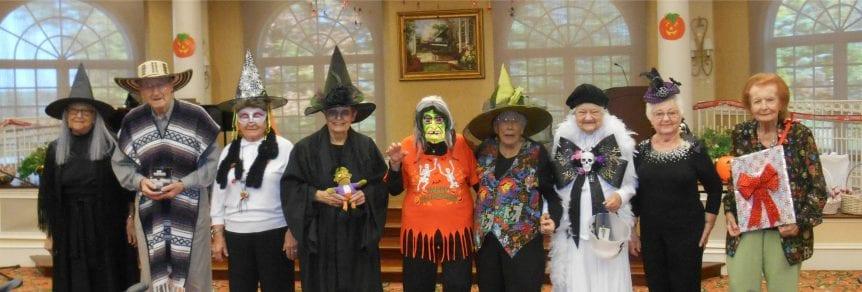 halloween costume retirement community group