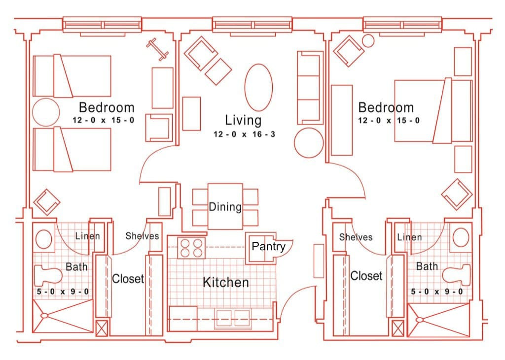 Independent Living Two Bedroom